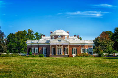 Photograph - Thomas Jefferson Home - Monticello - 9 by Frank J Benz