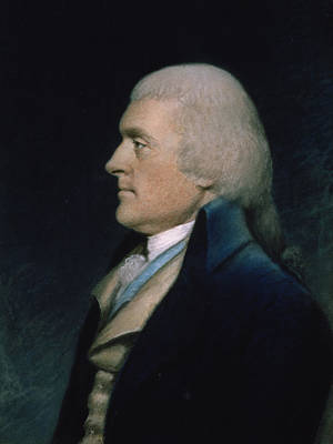 On Paper Pastel - Thomas Jefferson by James Sharples