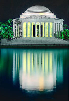 Photograph - Thomas Jefferson Memorial At Night by Don Lovett