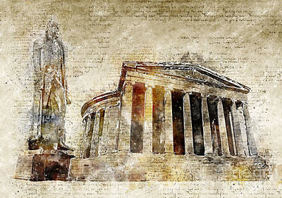 Jefferson Memorial Digital Art - Thomas Jefferson Memorial by Michael Kuelbel