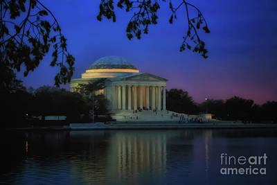 Thomas Jefferson Memorial Sunset Art Print