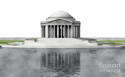 Jefferson Memorial Wall Art - Painting - Thomas Jefferson Memorial, Washington by John Springfield