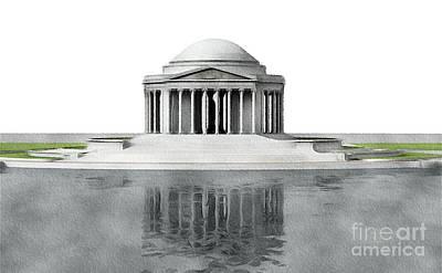 Politicians Paintings - Thomas Jefferson Memorial, Washington by John Springfield