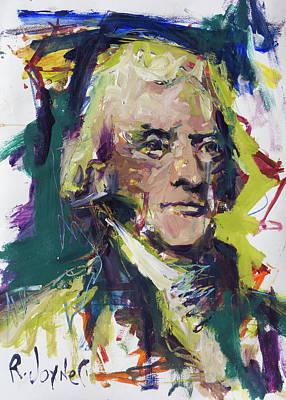 Painting - Thomas Jefferson by Robert Joyner
