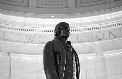 Politicians Royalty-Free and Rights-Managed Images - Thomas Jefferson Statue by Valentino Visentini