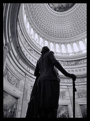 Photograph - Thomas Jefferson -  U S Capitol Statuary Hall by Allen Beatty