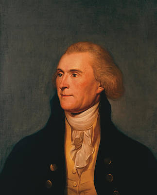 4th Of July Painting - Thomas Jefferson by War Is Hell Store