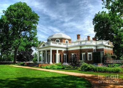 Photograph - Thomas Jefferson's Home by Mel Steinhauer