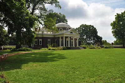 President Photograph - Thomas Jefferson's Monticello by Bill Cannon