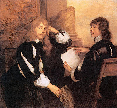 Digital Art - Thomas Killigrew And William Lord Crofts  by Sir Antony van Dyck