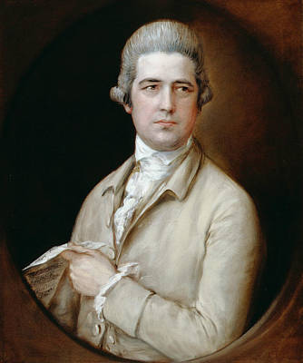 Thomas Linley The Elder  Art Print by Thomas Gainsborough
