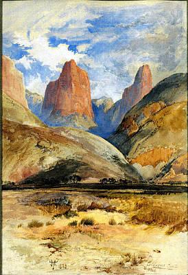 Thomas Moran    Colburn's Butte South Utah Art Print