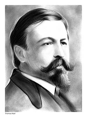 Cartoon Drawing - Thomas Nast by Greg Joens