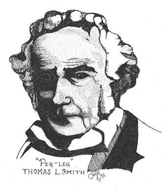 Drawing - Thomas Pegleg Smith  by Clayton Cannaday