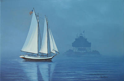 Painting - Passing Thomas Point by Kenneth F Aunchman