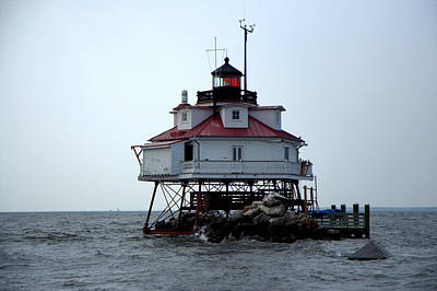 Photograph - Thomas Point Shoal Lighthouse by Van Corey