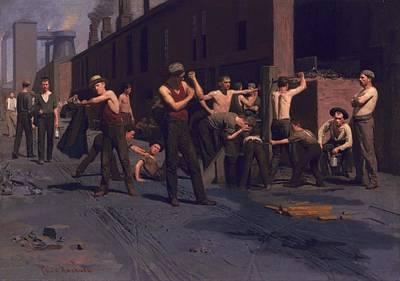 Caucasian Painting - Thomas Pollack Anshutz - The Ironworkers' Noontime - 1880 by Thomas Pollack Anshutz
