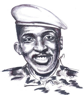Painting - Thomas Sankara 02 by Emmanuel Baliyanga
