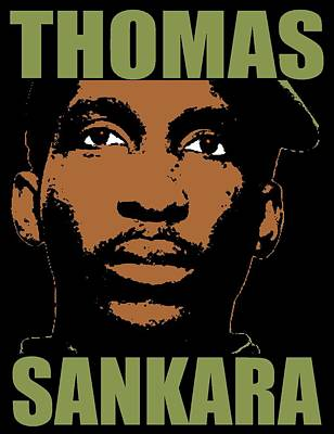 President Mixed Media - Thomas Sankara-3 by Otis Porritt