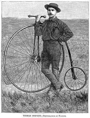 Photograph - Thomas Stevens, 1884 by Granger