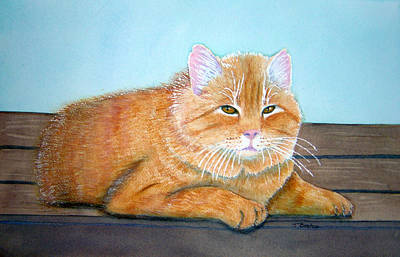 Painting - Thomas Stray Cat Series Number One by Teresa Boston