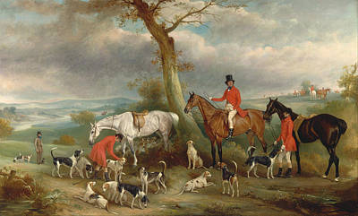 Hunting Party Painting - Thomas Wilkinson by Celestial Images