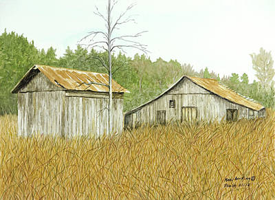 Painting - Thompson Barns by Mary Ann King