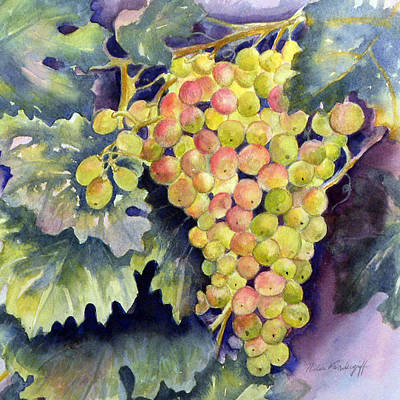Painting - Thompson Grapes by Hilda Vandergriff