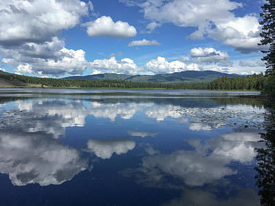 Photograph - Thompson Lake Reflection by Teresa Wilson