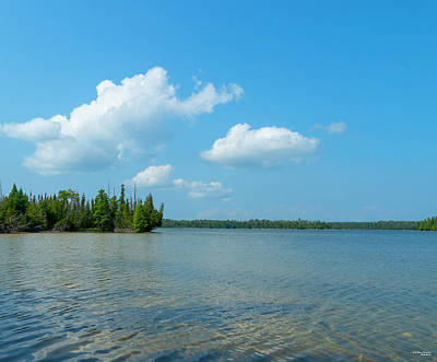 Photograph - Thompson Lake by Sally Sperry