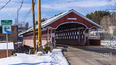 Photograph - Thompson Covered Bridge. by New England Photography