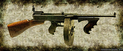 Thompson Submachine Gun 1921 Art Print