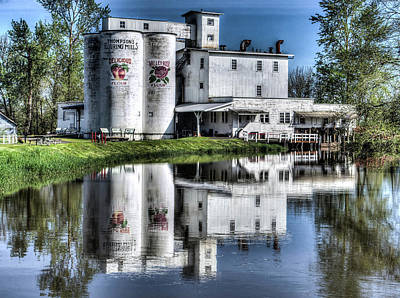 Photograph - Flowering Mill Reflections by Thom Zehrfeld