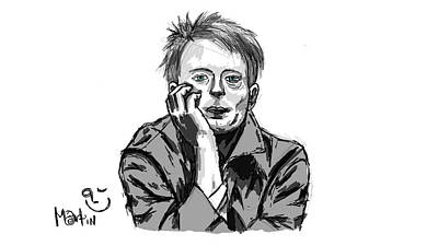 Thom Yorke Digital Art - Thomyorke_2003 by Martin Pilaszek