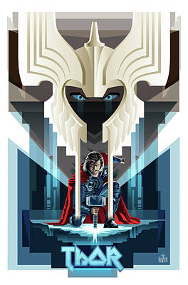 Digital Art Rights Managed Images - THOR Concept Royalty-Free Image by Garth Glazier