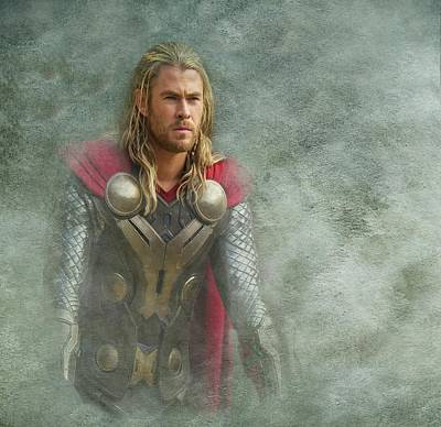 Thor In Asgard  Art Print