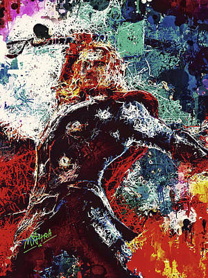 Portrait Mixed Media - Thor Swinging For The Fences by Matra Art