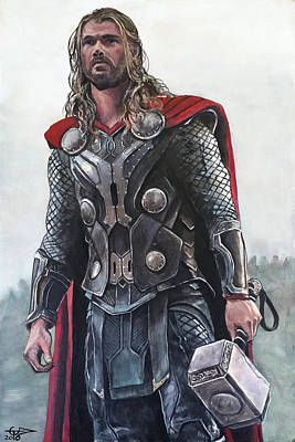 Painting - Thor The Thunder God by Tom Carlton