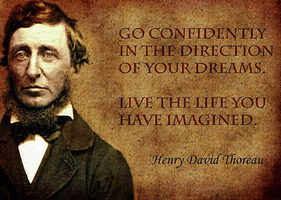 Thoreau Photograph - Thoreau Quote 1 by Andrew Fare