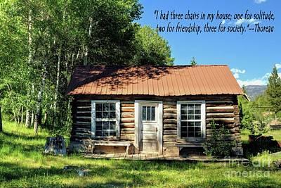 Thoreaus Cabin Photograph - Thoreau--three Chairs by Roxie Crouch