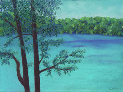 Pastel - Thoreau's View by Anne Katzeff