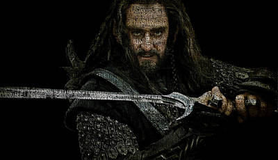 Thorin Oakenshield - Richard Armitage Art Print by Prar Kulasekara