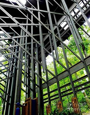 Photograph - Thorncrown Chapel Arkansas Sanctuary Architecture by Lizi Beard-Ward