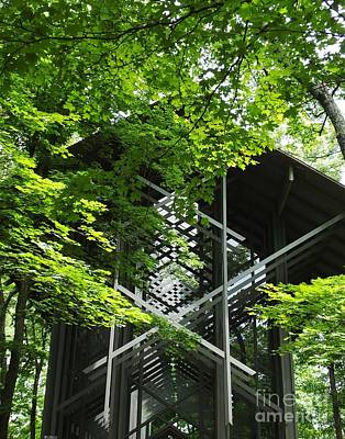 Photograph - Thorncrown Chapel Door Ozarks Of Arkansas by Lizi Beard-Ward