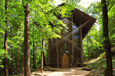 Photograph - Thorncrown Chapel Eureka Springs Arkansas Exterior Horizonal by Brian Hoover