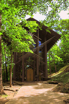 Photograph - Thorncrown Chapel Eureka Springs Arkansas Exterior Verticle by Brian Hoover