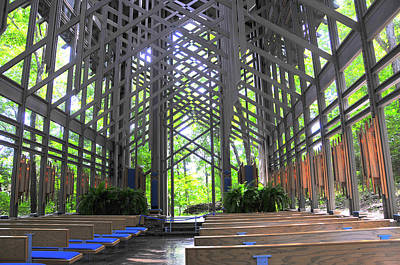 Photograph - Thorncrown Chapel Eureka Springs Arkansas Interior Horizonal by Brian Hoover