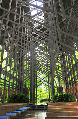 Photograph - Thorncrown Chapel Eureka Springs Arkansas Interior Verticle by Brian Hoover