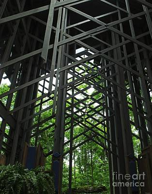 Photograph - Thorncrown Chapel Sanctuary In The Ozark Mountains by Lizi Beard-Ward