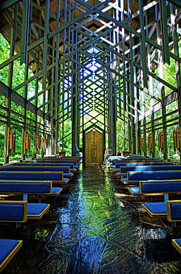 Photograph - Thorncrown Chapel Serenity by Cricket Hackmann
